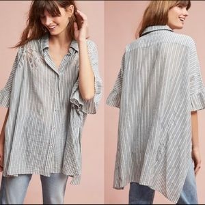 Anthro Maeve Striped Betty Tunic Top XS/S